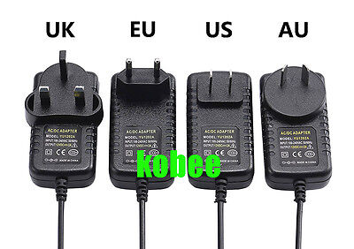 EU US UK AU Adapter AC 100-240V To DC 12V 2A Power Supply For 3528 5050 Strip