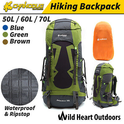 50L/60L/70L Waterproof Backpack Rucksack Extra Load Outdoor Camping Hiking