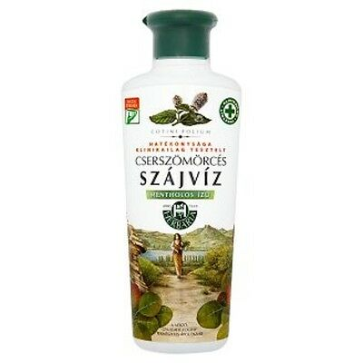 2 X HUNGARIAN HERBÁRIA MINT MOUTHWASH WITH SUMAC AND THYME 2X250ml FREE SHIPPING