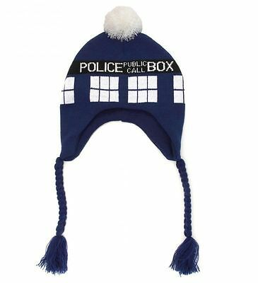 Doctor Dr Who Official Tardis Bobble / Beanie Hat Plush Cat New