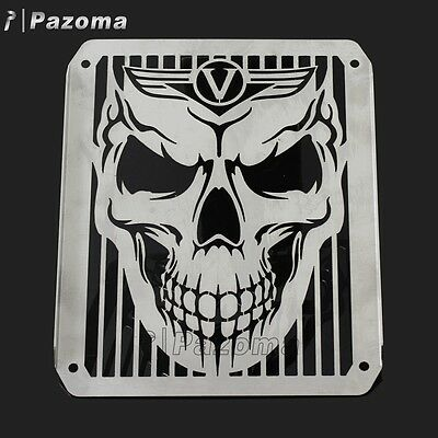 Kawasaki Skull Vulcan Vn800 Vn400 All Years Stainless Radiator Grill Guard Cover