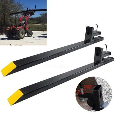 Heavy Duty Clamp on Pallet Forks 4000lbs Loader Bucket Skidsteer Tractor chain