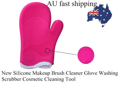 New Silicone Makeup Brush Cleaner Glove Washing Scrubber Cosmetic Cleaning Tool