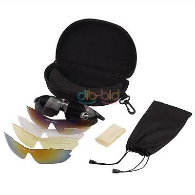 Popular Cycling Riding Bicycle Sun Glasses 5 Lens Sports Sunglasses Goggles