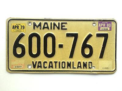 Maine 1980 Vintage License Plate Garage Old Car Auto Tag Man Cave Vacationland