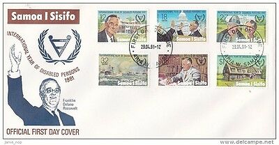 Samoa 1981 Disabled Persons FDC