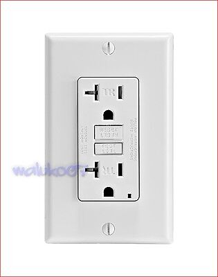 Leviton Self Test Gfci Outlet Wplate Tamper Resistant 20A-125V Gftr2-W White New