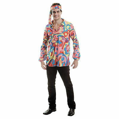 HIPPIE Damen Herren Karneval Kostüm Fasching Party 70er Flower One size