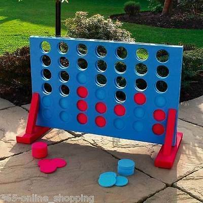 Giant Connect 4 In A Row Garden Outdoor Game Kids Adults Family Fun Xmas Gift