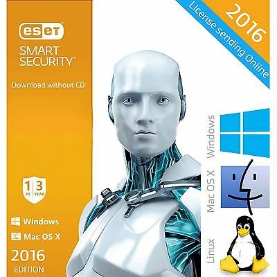 ESET Smart Security 9 / 2016 / 9.0 3 Years 1 PC License Download English Edition