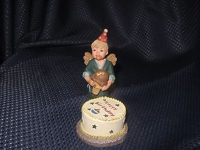 Sarah's Attic Labor of Love Birthday Figurine Young Boy with Cake