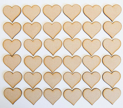 Wooden MDF Love Curvy Hearts Craft Wedding Christmas Tree Decoration MDF Art