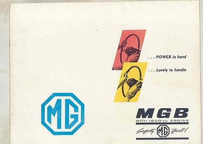 1963 MG MGB FIRST Brochure ww1525