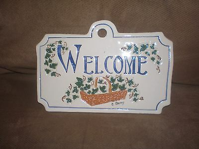 Longaberger Homestead Exclusive Carol Berry Welcome Sign Plaque