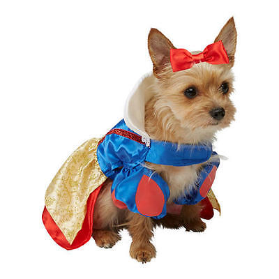 Pet Cat Dog Snow White Costume Rubies Disney Princess Fancy Dress Outfit XS-M