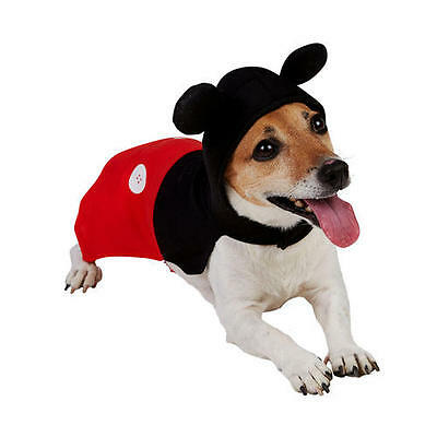 Pet Dog Mickey Mouse Costume Rubies Disney Character Fancy Dress Outfit XS-M