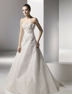 Benjamin Roberts 2053 Wedding Dress UK14 Ivory Taffeta