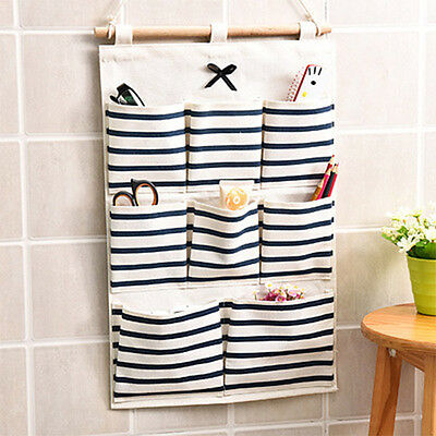 8 Pockets Hanging Door Home Clothing Jewelry Closet Storage Bags Organizer