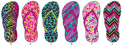Lot of 72 Pairs Wholesale Kids Girls Printed Flip Flops Sandals Flip Flop Sandal