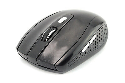 Great Black Optical Mouse Wireless Mice PC Laptop Windows Apple Macbook. 0198
