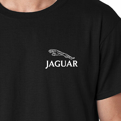 JAGUAR Classic Logo Only Embroidered Auto Car T-Shirt Tee Shirts