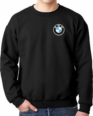 BMW M-Series Logo Only Embroidered Auto Car Motorcycle Crewneck Sweatshirt
