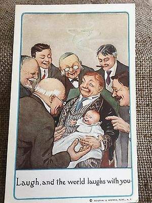 1900's Vintage Reinthal Newman Postcard Grandpa Men with Baby # 238 NOS LAST ONE
