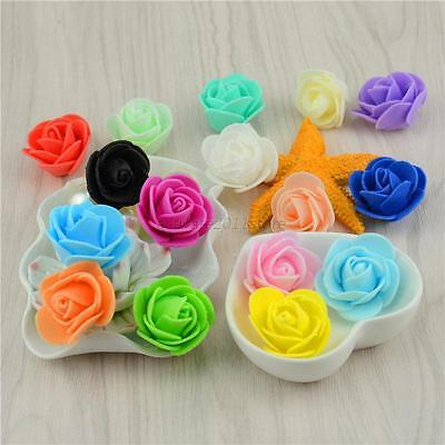 50pcs Mini Roses Artificial Silk Flower Heads Home Wedding Party Decor