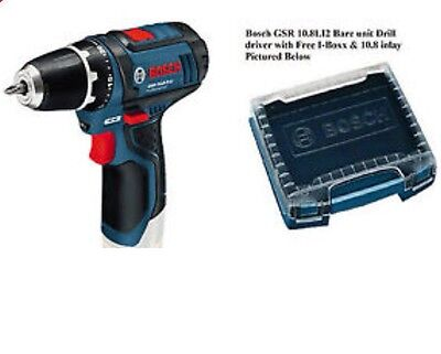 BOSCH GSB 10.8 V-LI-2 Cordless Combi Drill BODY ONLY & FREE L-BOX +10.8 INLAY