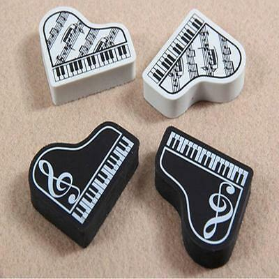Fashion Cute MINI Triangle Piano Shape Note Pattern Eraser Writing Collectibles