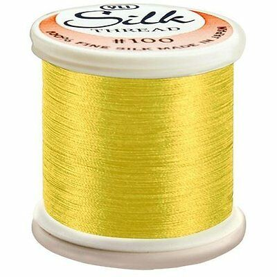 YLI 100/% and #100 Silk Thread 214 - Daffodil Yellow Kanagawa