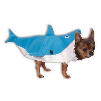 Dog Pet Shark Fancy Dress Costume Jaws Halloween Outfit S-XL