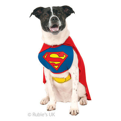 Pet Dog Superman Vest & Cape Fancy Dress Costume Outfit S-XL