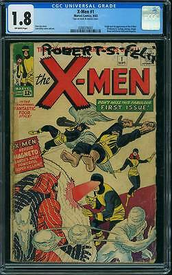 X-Men # 1  Origin / First appearance of the X-Men !  CGC 1.8 scarce book !