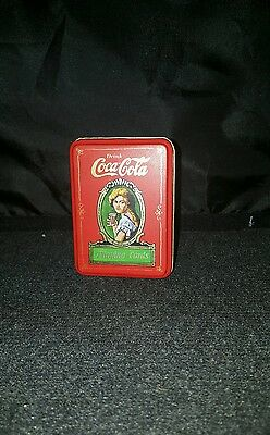 Vintage 1980  Coca Cola,  Playing Cards with Metal Box