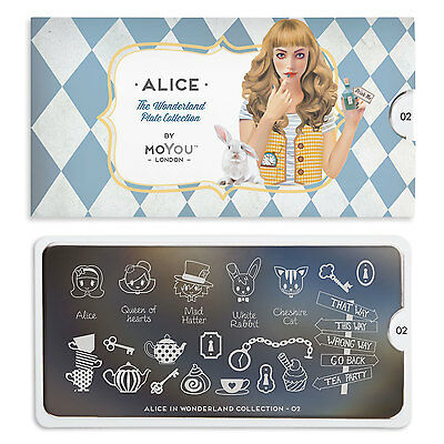Moyou London 'ALICE' Stamping Plates, 8 designs