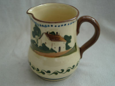 Vintage Hand Painted Devon Motto Ware Jug - Say Little But Think Much