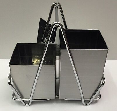 Stainless Steel Cutlery Caddy 2 Compartments