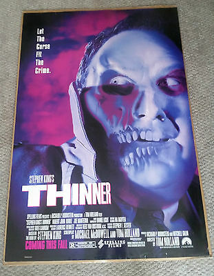 Thinner (1996) Original One Sheet Movie Poster 27x40 Stephen King