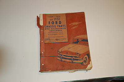 Vintage Ford Chassis Parts and Accessories Catalogue 1949, 1950, 1951