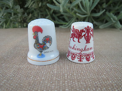 Pair of Porcelain Thimbles, China Thimble Collection, Buckingham Place, Portugal