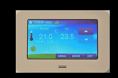 Digital Raumthermostat LCD Color Touchscreen 4,3 inch Fußbodenheizung CTS white