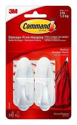 3M Command Designer hooks medium pack of 2