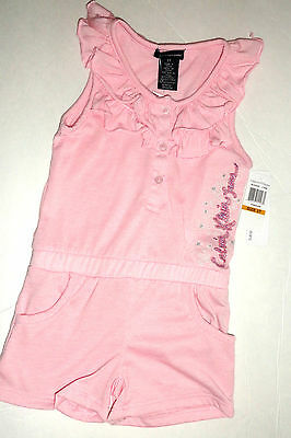 New Calvin Klein Romper Dress Set 3 Years Pink Girls Authentic