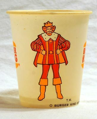 Vintage Burger King Wax Cups from 1977 - Lot of 12