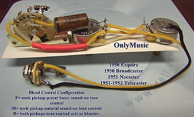 Compatible To Fender Telecaster 1951 1952 Reproduction Vintage Wiring Harness