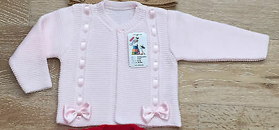 Spanish Ribbon and bow knitted  cardigan for girls