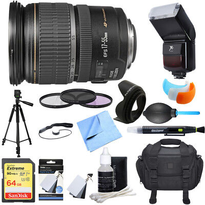 Canon EF-S 17-55mm F/2.8 IS USM Wide Angle Zoom Lens Ultimate Accessory Bundle