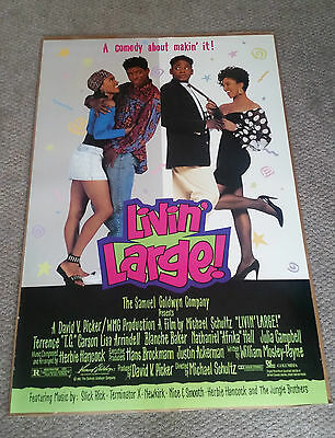 Livin Large Original Movie Poster (1991) 27x40 Double Sided