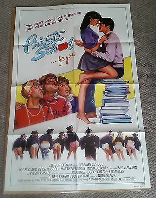Private School (1983) Original One Sheet Poster 27x40 Phoebe Cates